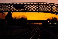 Sunset in Portarlington Train Station