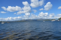 Bantry bay with oil tug boat in View