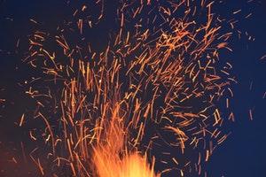 He makes his angels winds, his servants flames of fire - Hebrews 1:7