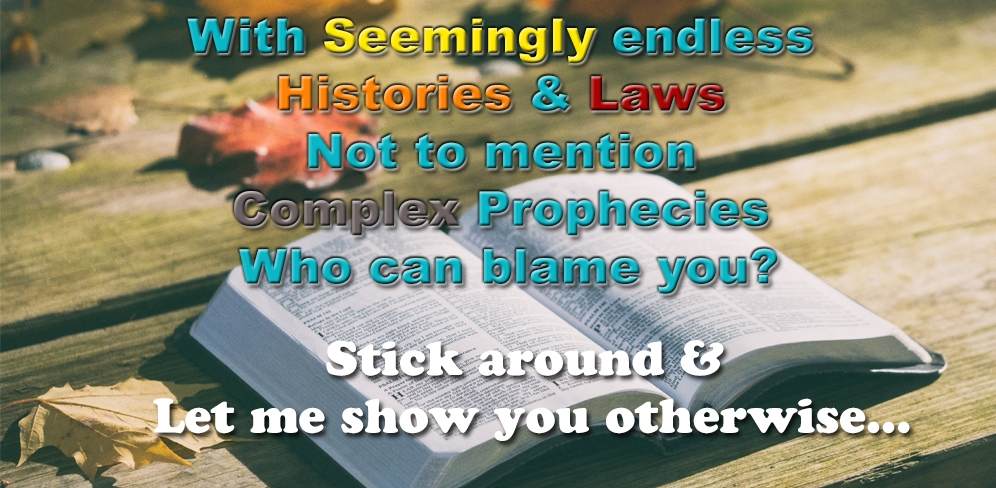 With Seemingly endless histories & Laws, Not to mention Complex Prophecies, Who could blame you? Stick around and let me show you otherwise...